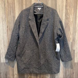 TOBI Chevron Wool Blend Coat S